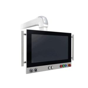 VK3200-TFM具有可定制按鈕區域的全方位IP65臂安裝工控機