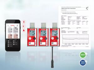 LIBERO Cx(BLE)藍牙無線PDF數據記錄儀,手機也能查看數據!?